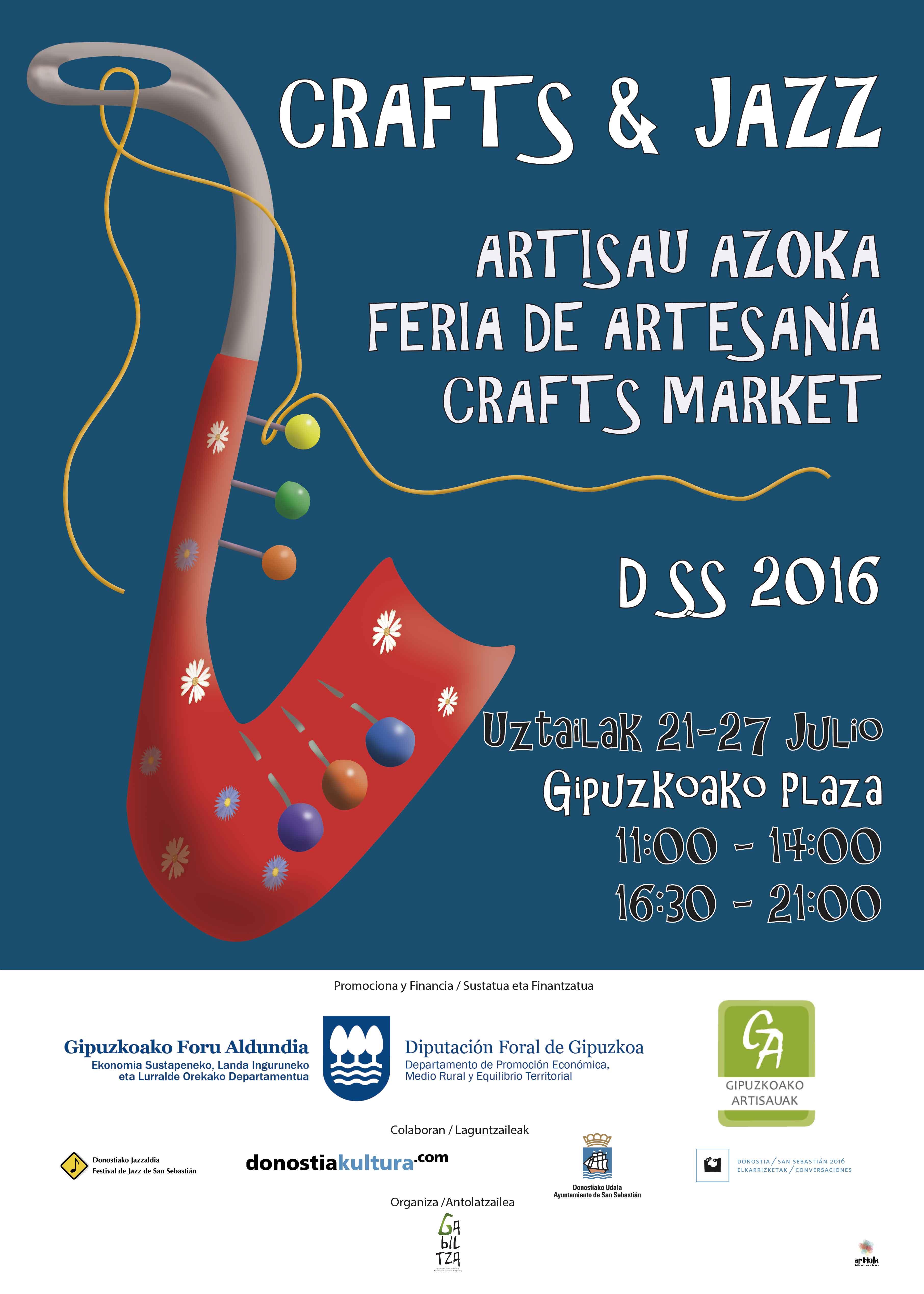 Feria de artesania crafts jazz 2016 donostia gabiltza for Feria de artesanias 2016